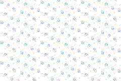 4106 cikkszámú tapéta.Barokk-klasszikus,virágmintás,bézs-drapp,fehér,kék,súrolható,vlies tapéta