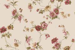 4112 cikkszámú tapéta.Barokk-klasszikus,virágmintás,barna,bézs-drapp,piros-bordó,zöld,súrolható,vlies tapéta