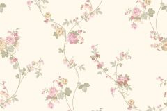 4117 cikkszámú tapéta.Barokk-klasszikus,virágmintás,bézs-drapp,fehér,piros-bordó,zöld,súrolható,vlies tapéta