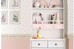4120 cikkszámú tapéta.Barokk-klasszikus,virágmintás,fehér,pink-rózsaszín,sárga,zöld,súrolható,vlies tapéta