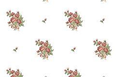 4125 cikkszámú tapéta.Barokk-klasszikus,virágmintás,fehér,piros-bordó,zöld,súrolható,vlies tapéta