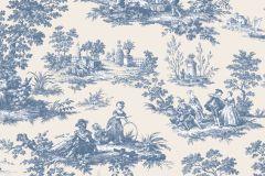 4133 cikkszámú tapéta.Barokk-klasszikus,emberek-sztárok,különleges motívumos,rajzolt,retro,természeti mintás,fehér,kék,súrolható,vlies tapéta