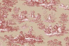 4134 cikkszámú tapéta.Barokk-klasszikus,emberek-sztárok,különleges motívumos,rajzolt,retro,természeti mintás,bézs-drapp,fehér,piros-bordó,súrolható,vlies tapéta