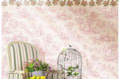4142 cikkszámú tapéta.Pöttyös,fehér,pink-rózsaszín,súrolható,vlies tapéta