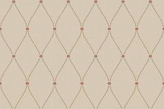 4168 cikkszámú tapéta.Barokk-klasszikus,geometriai mintás,virágmintás,bézs-drapp,piros-bordó,súrolható,vlies tapéta