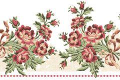 4198 cikkszámú tapéta.Barokk-klasszikus,virágmintás,fehér,piros-bordó,sárga,zöld,súrolható,vlies bordűr
