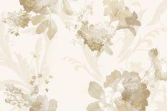 1200 cikkszámú tapéta.Barokk-klasszikus,virágmintás,barna,bézs-drapp,fehér,súrolható,papír tapéta