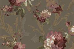 1208 cikkszámú tapéta.Barokk-klasszikus,virágmintás,arany,barna,bézs-drapp,fehér,pink-rózsaszín,súrolható,papír tapéta
