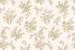 1210 cikkszámú tapéta.Barokk-klasszikus,virágmintás,arany,fehér,súrolható,papír tapéta