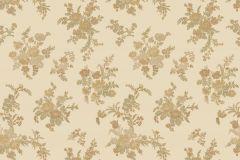 1213 cikkszámú tapéta.Barokk-klasszikus,virágmintás,arany,barna,bézs-drapp,súrolható,papír tapéta