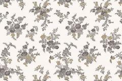1219 cikkszámú tapéta.Barokk-klasszikus,virágmintás,fehér,kék,szürke,súrolható,papír tapéta