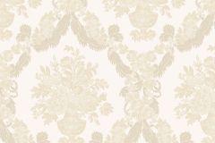 1220 cikkszámú tapéta.Barokk-klasszikus,virágmintás,arany,barna,bézs-drapp,fehér,súrolható,papír tapéta