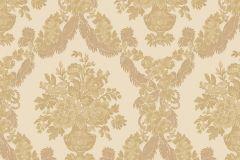 1223 cikkszámú tapéta.Barokk-klasszikus,virágmintás,arany,súrolható,papír tapéta