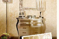 1232 cikkszámú tapéta.Barokk-klasszikus,arany,barna,bézs-drapp,súrolható,papír tapéta