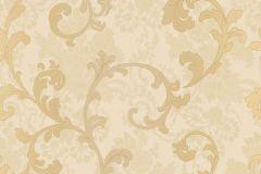 1233 cikkszámú tapéta.Barokk-klasszikus,arany,barna,bézs-drapp,súrolható,papír tapéta