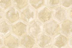 7600 cikkszámú tapéta.Geometriai mintás,különleges motívumos,arany,barna,bézs-drapp,súrolható,vlies tapéta