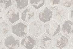 7601 cikkszámú tapéta.Geometriai mintás,különleges motívumos,ezüst,szürke,súrolható,vlies tapéta