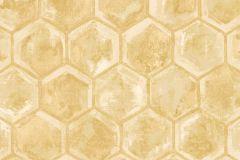 7602 cikkszámú tapéta.Geometriai mintás,különleges motívumos,arany,barna,sárga,súrolható,vlies tapéta