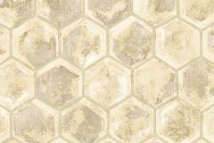 7603 cikkszámú tapéta.Geometriai mintás,különleges motívumos,barna,bézs-drapp,vajszín,súrolható,vlies tapéta