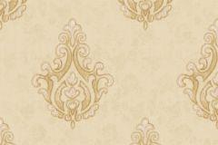 7612 cikkszámú tapéta.Barokk-klasszikus,textil hatású,arany,bézs-drapp,sárga,súrolható,vlies tapéta
