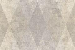7621 cikkszámú tapéta.Geometriai mintás,textil hatású,barna,bézs-drapp,kék,súrolható,vlies tapéta