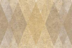 7622 cikkszámú tapéta.Geometriai mintás,textil hatású,barna,bézs-drapp,sárga,súrolható,vlies tapéta