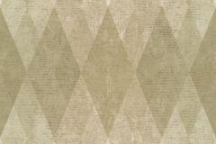7623 cikkszámú tapéta.Geometriai mintás,textil hatású,barna,bézs-drapp,zöld,súrolható,vlies tapéta
