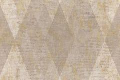 7624 cikkszámú tapéta.Geometriai mintás,textil hatású,barna,bézs-drapp,kék,súrolható,vlies tapéta