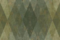 7625 cikkszámú tapéta.Geometriai mintás,bézs-drapp,kék,zöld,súrolható,vlies tapéta