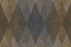 7627 cikkszámú tapéta.Geometriai mintás,textil hatású,barna,bézs-drapp,kék,súrolható,vlies tapéta