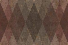 7628 cikkszámú tapéta.Geometriai mintás,textil hatású,barna,bézs-drapp,piros-bordó,szürke,súrolható,vlies tapéta