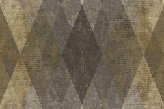7629 cikkszámú tapéta.Geometriai mintás,textil hatású,barna,bézs-drapp,sárga,szürke,súrolható,vlies tapéta