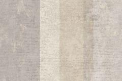 7631 cikkszámú tapéta.Barokk-klasszikus,csíkos,különleges motívumos,textil hatású,fehér,szürke,vajszín,súrolható,illesztés mentes,vlies tapéta