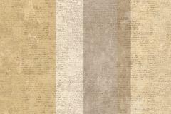 7632 cikkszámú tapéta.Barokk-klasszikus,csíkos,textil hatású,barna,bézs-drapp,sárga,szürke,súrolható,illesztés mentes,vlies tapéta