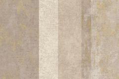 7634 cikkszámú tapéta.Barokk-klasszikus,csíkos,textil hatású,bézs-drapp,szürke,súrolható,illesztés mentes,vlies tapéta