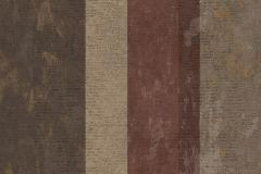 7638 cikkszámú tapéta.Barokk-klasszikus,csíkos,textil hatású,barna,bézs-drapp,piros-bordó,súrolható,illesztés mentes,vlies tapéta