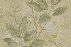 7645 cikkszámú tapéta.Barokk-klasszikus,természeti mintás,textil hatású,virágmintás,bézs-drapp,szürke,vajszín,zöld,súrolható,vlies tapéta
