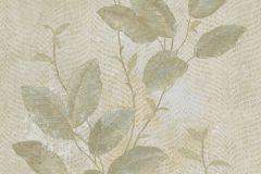 7646 cikkszámú tapéta.Természeti mintás,textil hatású,virágmintás,bézs-drapp,kék,szürke,vajszín,zöld,súrolható,vlies tapéta