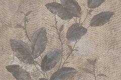 7647 cikkszámú tapéta.Barokk-klasszikus,természeti mintás,textil hatású,virágmintás,barna,bézs-drapp,kék,szürke,súrolható,vlies tapéta