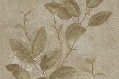 7649 cikkszámú tapéta.Barokk-klasszikus,természeti mintás,textil hatású,virágmintás,bézs-drapp,szürke,zöld,súrolható,vlies tapéta