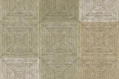 7653 cikkszámú tapéta.3d hatású,geometriai mintás,kockás,textil hatású,barna,bézs-drapp,szürke,zöld,súrolható,vlies tapéta