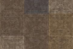 7657 cikkszámú tapéta.3d hatású,geometriai mintás,kockás,textil hatású,barna,bézs-drapp,kék,szürke,súrolható,vlies tapéta