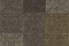 7659 cikkszámú tapéta.3d hatású,geometriai mintás,kockás,textil hatású,barna,szürke,súrolható,vlies tapéta