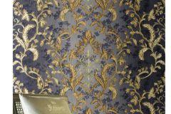8806 cikkszámú tapéta.Barokk-klasszikus,arany,kék,súrolható,vlies tapéta