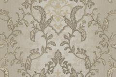 8807 cikkszámú tapéta.Barokk-klasszikus,barna,ezüst,szürke,súrolható,vlies tapéta