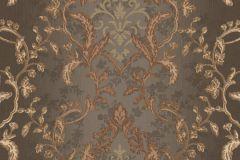 8808 cikkszámú tapéta.Barokk-klasszikus,arany,barna,bronz,súrolható,vlies tapéta