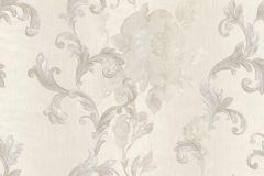8820 cikkszámú tapéta.Barokk-klasszikus,virágmintás,bézs-drapp,ezüst,súrolható,vlies tapéta