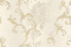 8821 cikkszámú tapéta.Barokk-klasszikus,virágmintás,arany,bézs-drapp,súrolható,vlies tapéta