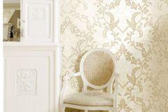 8822 cikkszámú tapéta.Barokk-klasszikus,virágmintás,arany,barna,bézs-drapp,súrolható,vlies tapéta