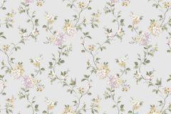 2532 cikkszámú tapéta.Barokk-klasszikus,virágmintás,bézs-drapp,fehér,pink-rózsaszín,szürke,zöld,gyengén mosható,papír tapéta